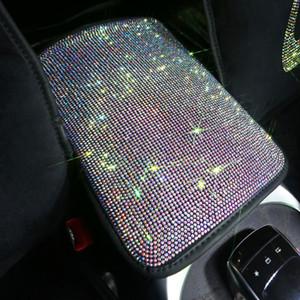 Moda Rhinestone cristal Car braço Pad Cover for braços Center Console Car Braço Almofada Box Covers Mulheres