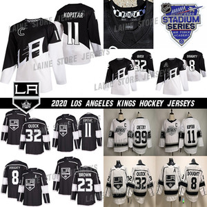 2020 Series Estadio de Los Angeles Kings Jersey 8 Drew Doughty 11 Anze Kopitar 32 Jonathan Quick 99 Wayne Gretzky Blanco Negro hockey jerseys