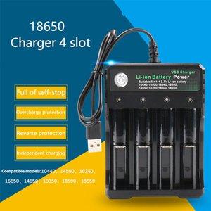 Заводская Оптовая продажа литиевая батарея зарядное устройство с USB кабелем 4 зарядных слота 18650 26650 18490 аккумуляторные батареи зарядное устройство лучше Nitecore