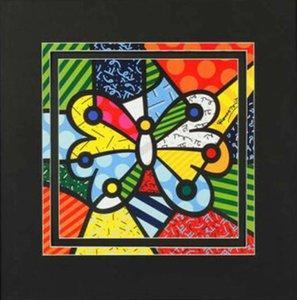 로메로 브리토 예술 LARGE BUTTERFLY 홈 인테리어 공예 오일 캔버스 벽 예술 캔버스 그림 200529에 그림