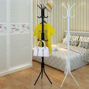 La simplicidad del hogar moderno Perchero Foor dormitorio percha de pie simple multi-función de un solo polo 12 Gancho T200413