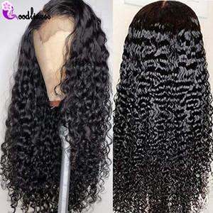Malezya Şeffaf Tutkalsız 13x6 Dantel Frontal Peruk 180 Yoğunluk Dantel Frontal İnsan Saç Peruk Remy HD Peruk Siyah Kadınlar için