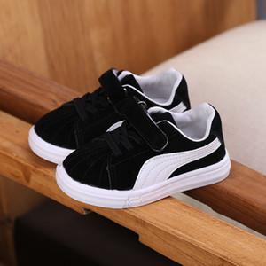 Дети Маленькие Белые Девочки Модные Туфли All-match Shoes Xia Heibai Catamite Girl Повседневная Скейт Обувь