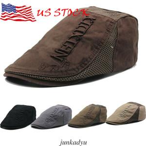 Yüzde 100 Pamuk Yaz Gatsby Cap Ivy Şapka Golf Egzersiz Güneş Düz Cabbie Newsboy Moda Berets mens