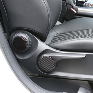 Carbon Fiber Кнопки регулировки сиденья Блестки Декоративные наклейки автомобилей Стайлинг интерьера для Mercedes Benz B Class W247 2020