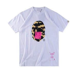 18FW APE X UNDEFEATED Tee Shanghai Limited Skateboard T-shirt Hombres de lujo de las mujeres de manga corta Simple Casual Tee HFLSTX338