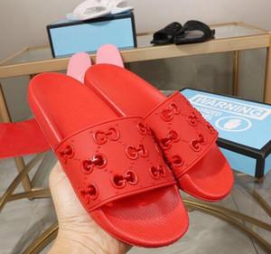 Pré-Queda 2020 mulheres cut-out de borracha sandálias de slides meninas desportivas piscina apartamentos chinelos tamanho euro mulas 35-45