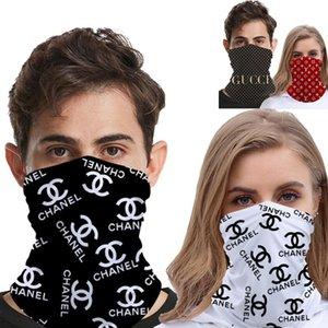 Design maschere Unisex giardino Bicicletta a metà volto Ciclismo Bandane Sciarpa di lusso fascia Mutilfunction Copricapo testa Sciarpe Mask 12 Stile