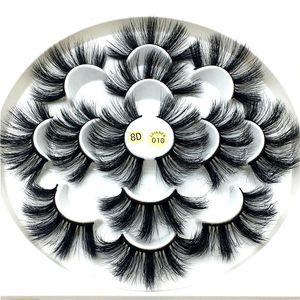 2020 New 7 pairs natural 25mm false eyelashes fake lashes long makeup 3d mink lashes eyelash extension mink eyelashes for beauty 010