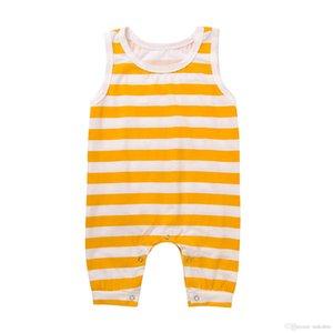 Verano para bebés, niños pequeños, niños con rayas simples, niños, niñas, mameluco, recién nacido, mono, algodón, sin mangas, traje harem, pantalón, pantalón largo