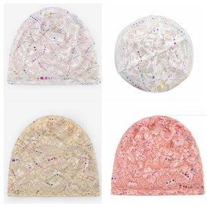 Sport Mountaineering cap Printed Flowers Lace Summer Knitted Beanies Women Ladies Cap Flower Sport Hat Scarf