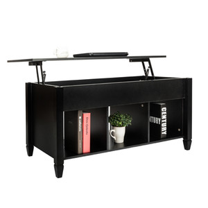 Lifting Coffee Table Stand with Hidden Storage Rack Living Room Modern Minimalist Coffee Table Furniture Black