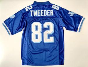 Чарли Twexer # 82 Западный Canaan Койоты фильм Мужские футбольные футболки Все сшитые синие S-3XL бесплатная доставка