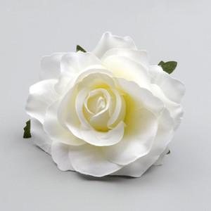 Düğün Dekorasyon DIY Çelenk Hediye Kutusu Scrapbooking Craft Sahte Flowers 30pcs Büyük Yapay Beyaz Gül İpek Çiçek Başkanları