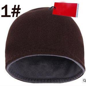 Winter, Herbst, Hüte für Damen Herren Marke Art Art und Weise Beanies Skullies Chapeu Caps Cotton Kalter Wollmütze Double Sided Gehörschützer stricken ha