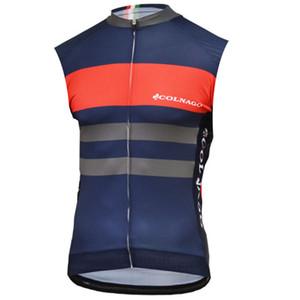 COLNAGO ekibi Bisiklet Kolsuz forması Yelek yeni yaz dağ bisikleti nefes çabuk kuru erkekler sürme gömlek 72530