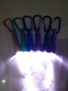 Mini Lanterna com mosquetão Lâmpada Luz Para Camping Pesca Tocha Handy Strong Luz Lanterna presentes Keychain para viagens EEA1885