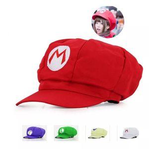 5 colors! Anime Super Mario Hat Cap Luigi Bros Cosplay Baseball Costume Birthday Present Mario Caps Children Christmas Gift G