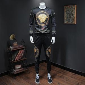 Wear 2019 Automne Homme Belle Dutha Impression numérique à manches longues Pantalons Pull Leisure Suit Temps hightest de mmhight