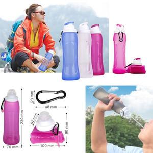 Silikon faltbare Wasserkessel Wärmebeständiges Männer Frauen im Freien beweglicher Wasserflaschen nicht Beleg Eco Friendly Non Toxic 27ss ZZ