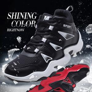 Descuento de encaje fría colchón suave y transpirable type4 simple colorido Negro Rojo Blanco Naranja Zapatos casuales entrenador Hombres Mujeres Deportes zapatillas de deporte 36-44