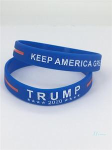 2020 Trump Bracelet en silicone Gardez américains Grands bracelets lettres Donald Trump Votez étoile rayé Bangles Dragonne Nouveau A121804
