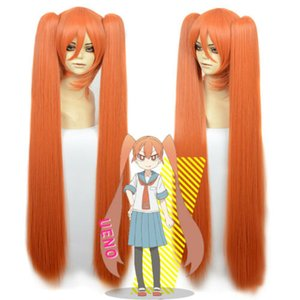 Wie ungeschickt Sie sind Fräulein Ueno Cosplay Perücke Orange Rot 2 Clip Pferdeschwänze Anime Haar