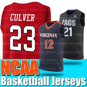 NCAA 21 Rui Hachimura maglie Gonzaga Bulldogs Colege 12 Ja Morant maglie 1 Sion maglie Williamson 23 Jarrett Culver