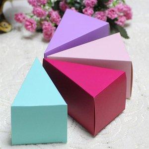 Candy Caixa Triângulo do partido do bolo de casamento Boxes 50pcs Presente prática Sugar Container Adorável apresenta Capa Para Wedding Engagement A35