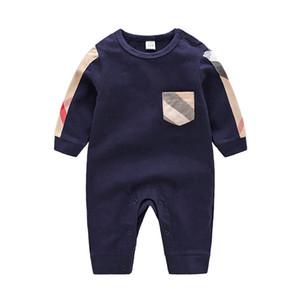 Qualitäts-Baby-Kleidung Frühling Sommer lang Sleeved Baumwollspielanzug Babybodysuitkleidung Kinder Kleidung Cartoon Mode-Mädchen-Overall Rom