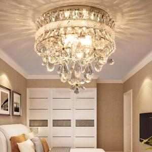 yatak odası koridor için Kristal avize aydınlatma lüks çiçekler kristal yuvarlak fantezi avize lamba led tavan avize ışıkları