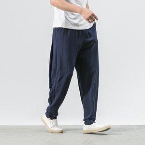 Cool2019 Will Code de nom de famille dans les douanes nationales Coton Pantalon de loisir Pantalon en lin facile masculin