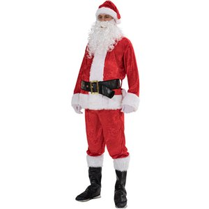 Christmas Costume Santa Claus Seven sets of Christmas clothes red Stage clothes one size Free shipping