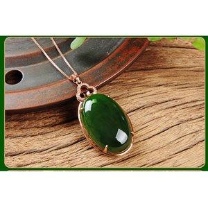 jasper jade naturel haut de gamme Pendentif Colliers