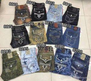 2020 новый стиль Мужчины Robin Rock Revival Jeans Кристалл Шпильки Denim брюки конструктора мужские джинсы брюки мужские плюс размер 30-42