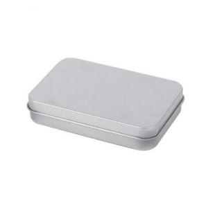 Прямоугольные навесные контейнеры с металлической крышкой мини пустой жестяной коробке износостойкие хранения организатор горячая распродажа