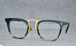 2020 NEW Norble OV NOMAD 49 titane lunettes gros jante monture de lunettes pure planche carrée + prescription de métal galssses caisses pleines-ensemble