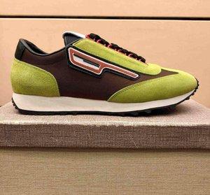 2020 Yeni Yüksek -Kalite Moda Lüks Tasarımcı Erkek Koşucular Marka Günlük Ayakkabılar Kabarık Ekleme Kalın Soled Yüksek Konfor Time Out Sneaker Eur