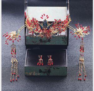 Braut-Atmosphäre der Braut Chinesische Hochzeit Fengguan Xiamen Ancient Dress Comb