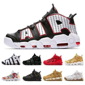 Nike Air Supreme 2019 New 96 QS Olímpico Varsity Maroon Mais Shoes Mens Basketball 3M Scottie Pippen uptempo Chicago treinadores desportivos Sneakers Tamanho 13