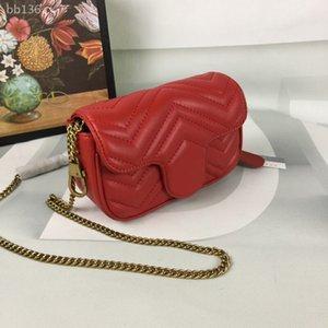 Womens Sacs à main de luxe de sacs à main classique sac simple chaîne Rétro Crossbody téléphonique poches Sacs à main Sacs Fourre Size17x10x5cm