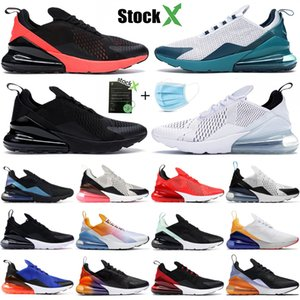 Triple Black 270S blancas que corren Zapatos Bred espíritu verde azulado cal explosión Cojín Pure Platinum zapatillas de deporte corrientes de luz hueso para hombre formadoras