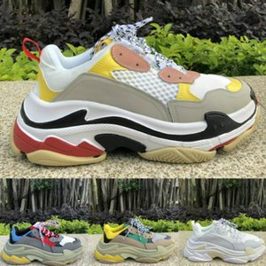 Designer Triple S Casual shoes Black white red Thick-soled flat shoes Luxury Paris Platform Old Dad tennis Height Increasing Sneaker ND0164