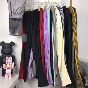20ss pantaloni casuali di sport ricamato farfalla jacquard Corduroy Pants High Street donne Mens confortevole Pantaloni HFXHKZ036