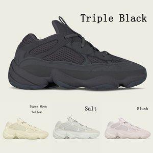 Sapatos frete grátis Hot Kanye West corredor da onda 500 Blush Sal Untility Preto Super Lua Amarelo calçados casuais Designer Sneaker Lazer sapatos