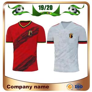 19/20 Belçika Home Futbol Jersey 2020 # 7 de Bruyne # 9 R. Lukaku # 10 E. Tehlike Futbol Gömlek Uzakta # 21 Carrasco Futbol Üniforması