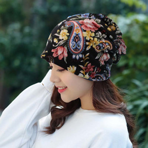 Cashew flower hedging twisted hat national wind flower Baotou hat scarf multi-purpose headscarf maternal explosion H99