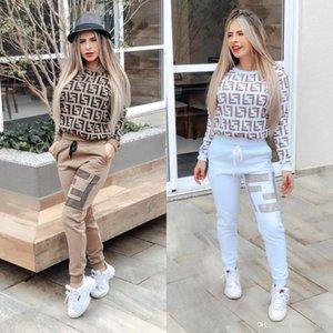 Frauen Designer-Mode Anzug Marke Läufer Yoga sweatsuits Zweiteiler Frauen lange Hülse beiläufige Pullover Turnhalle Hosen Outdoor-Sport-Set