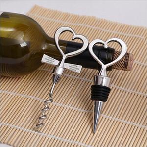Love Heart Shape Wine Штопор Открывалка Для Бутылок Стопорные Наборы Свадебные Сувениры Гостям Подарок Партии Пользу Свадебные Подарки Подарок EEA196