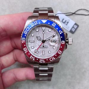 Novo 2019 Modelo Mens Relógio De Pulso De Aço Inoxidável 316L Azul Vermelho Pepsi Relógio GMT Movimento Automático Relógio Limitado Orologio di Lusso Mestre Presente